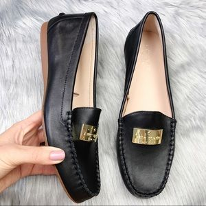 New Kate Spade Black Leather Corrie Loafer